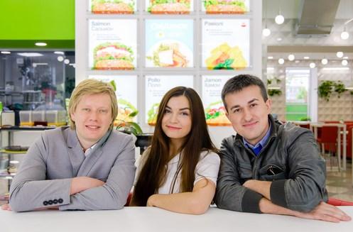 На фото — Александр Савилов, Ирина Добруцкая, Евгений Рубан (слева направо)