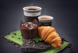 Выпечка и кофе на ОККО