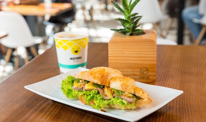 Соу-сендвич с уткой и апельсинами