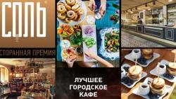 Новая номинация Национальной ресторанной премии Соль® 2016