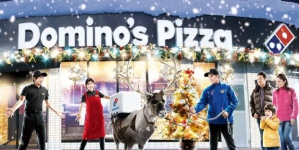 Domino's запустила рождественскую доставку на оленях