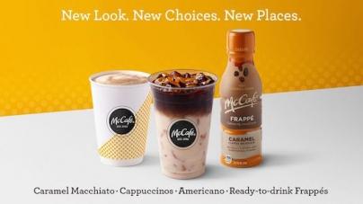 McDonald's обновил лого, упаковку и меню McCafé, бросив вызов Starbucks