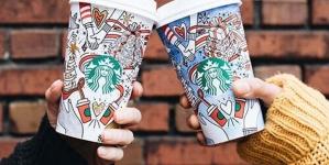 Starbucks выпустила незаконченные рождественские стаканы