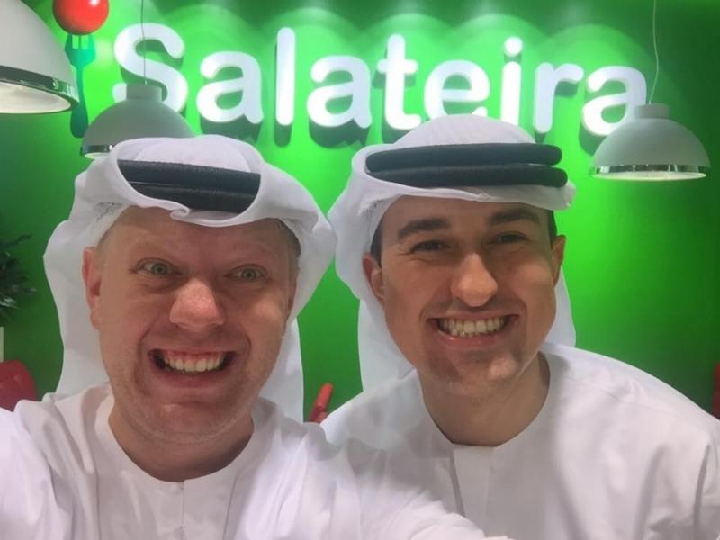 С Александром Савиловым на открытии ресторана в Дубай