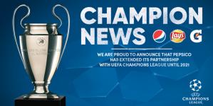 PepsiCo продовжує міжнародний договір про партнерство з Лігою чемпіонів УЄФА